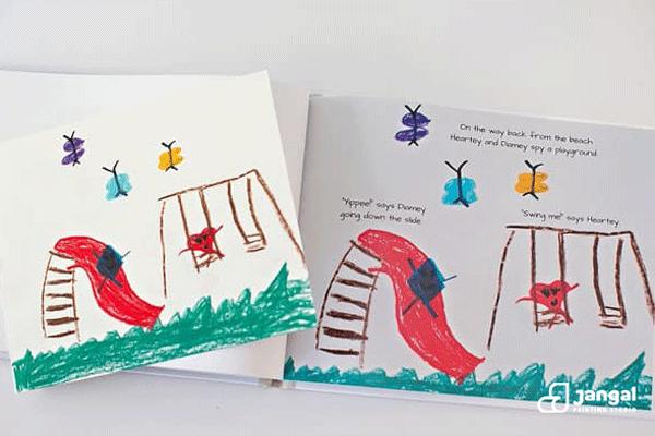 صفجه آرایی کتاب کودک